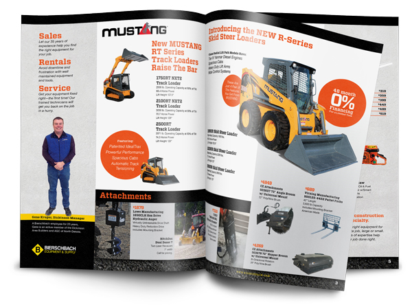 construction equipment sales flyer