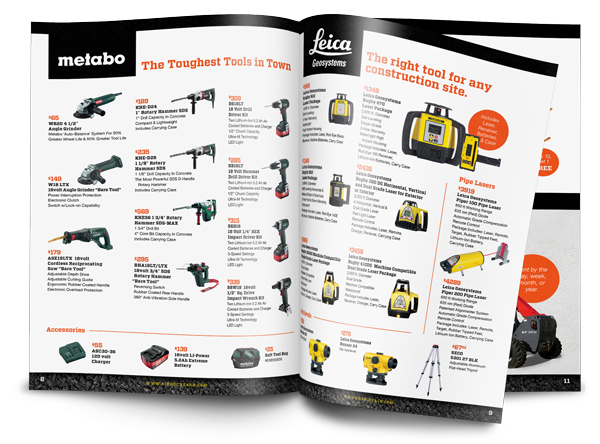 Spread from sales flyer.