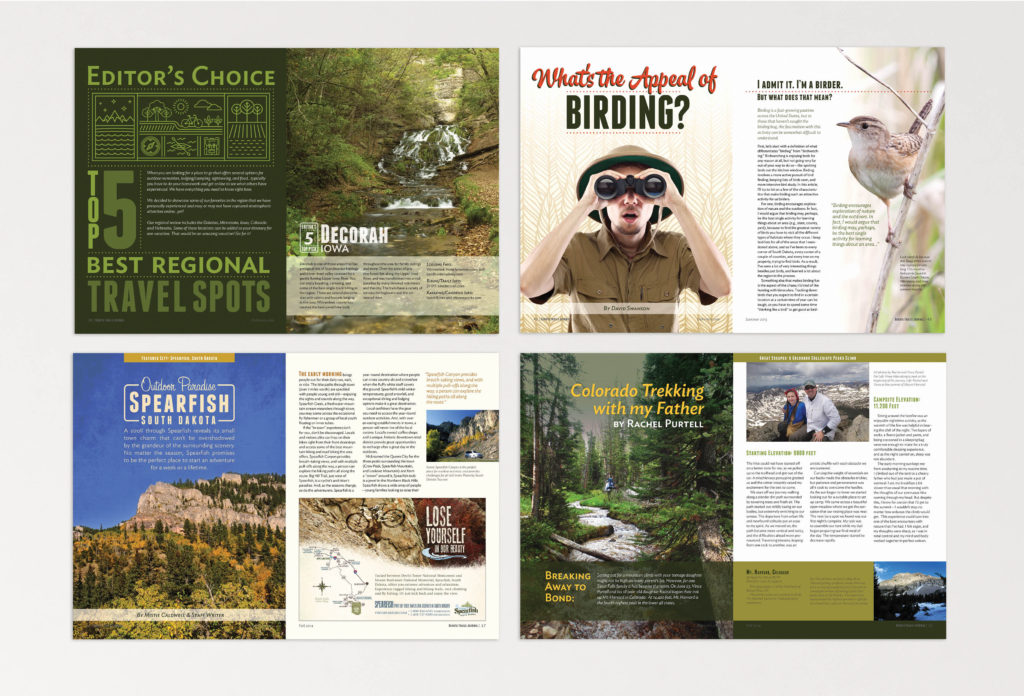 Dakota Trails Journal feature spreads